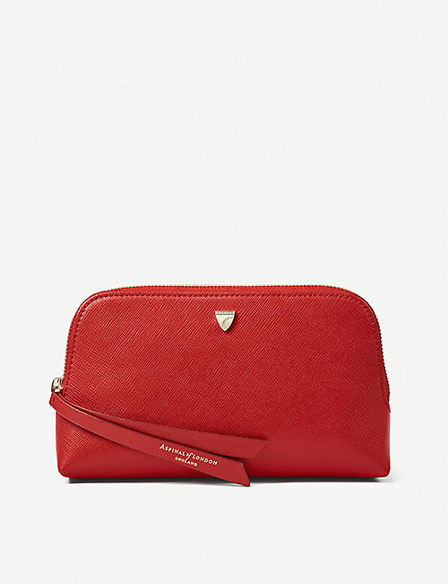 ASPINAL OF LONDON: Essential leather cosmetic case