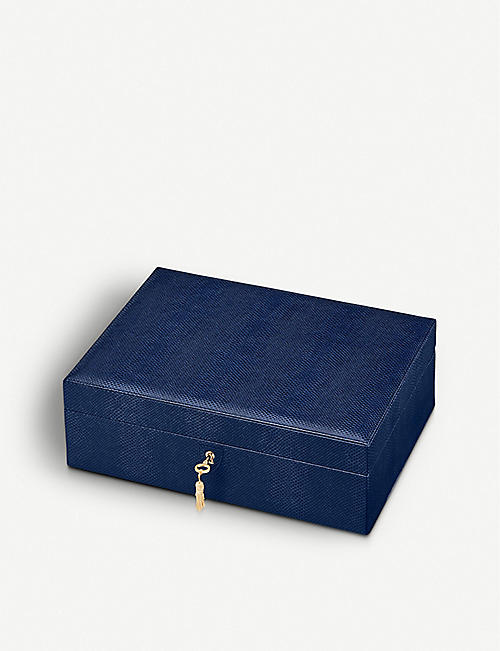 ASPINAL OF LONDON: Grand Luxe leather jewellery box