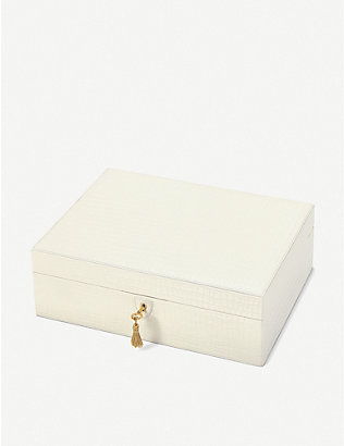 ASPINAL OF LONDON: Grande Luxe leather jewellery box