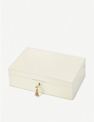 ASPINAL OF LONDON: Savoy leather jewellery box