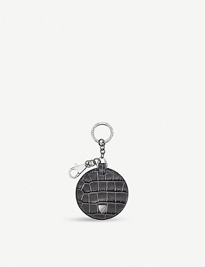 ASPINAL OF LONDON Disc leather keyring