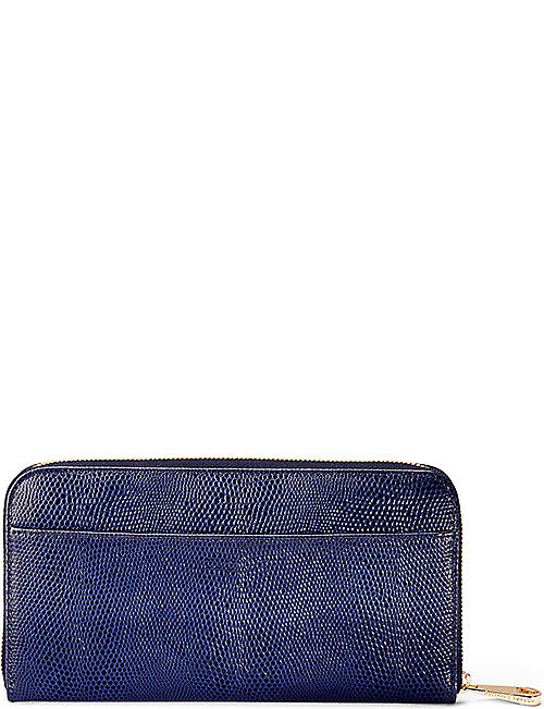 ASPINAL OF LONDON Continental leather zip-around wallet