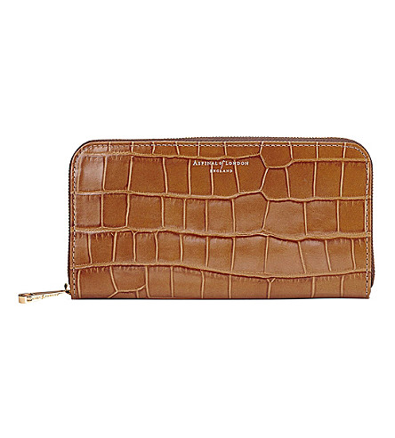 da86de146793 ASPINAL OF LONDON Continental clutch crocodile-embossed leather wallet