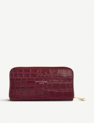 ASPINAL OF LONDON Continental mock-croc leather clutch wallet