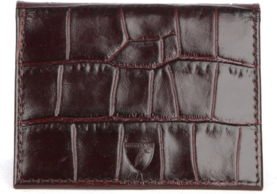 ASPINAL OF LONDON ID & Travel crocodile-embossed leather card case