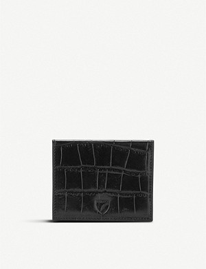 ASPINAL OF LONDON Crocodile-embossed leather ID and travel card case