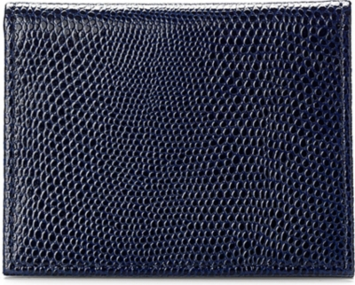 ASPINAL OF LONDON ID & travel card lizard-embossed leather case