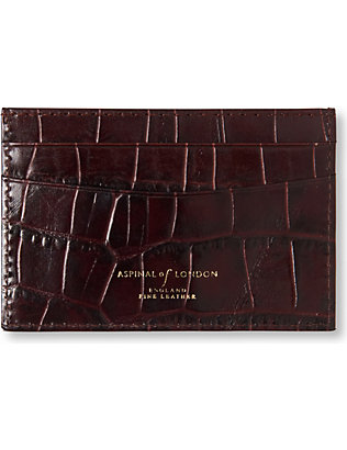 ASPINAL OF LONDON: Mock crocodile slim credit card case