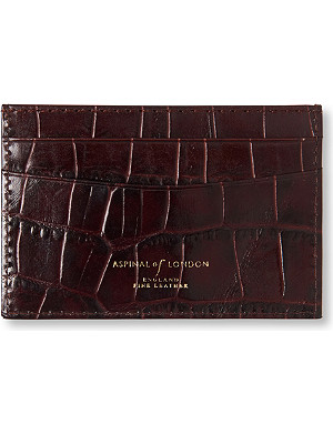 ASPINAL OF LONDON Mock crocodile slim credit card case