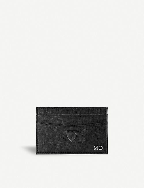 ASPINAL OF LONDON: Slim saffiano leather credit card case