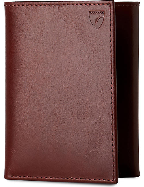 ASPINAL OF LONDON: Trifold leather wallet