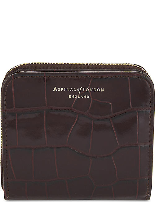 11f93911d5 ASPINAL OF LONDON Mini continental leather purse