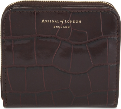 ASPINAL OF LONDON Mini continental leather purse