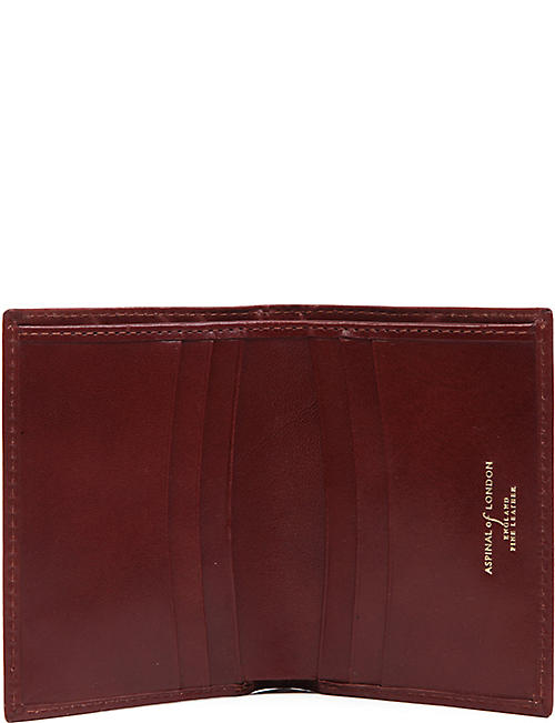 ASPINAL OF LONDON Double-fold leather card holder