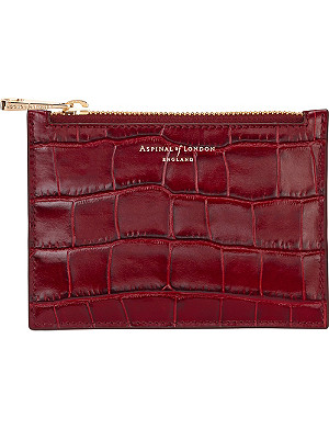 ASPINAL OF LONDON Essential mock-croc leather pouch