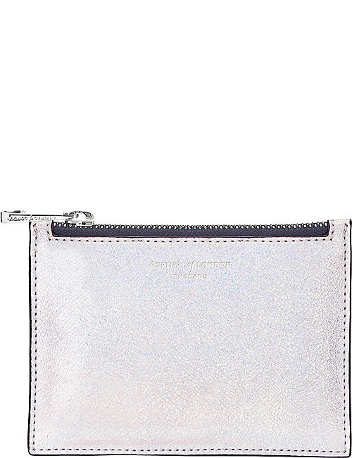 ASPINAL OF LONDON Essential iridescent leather pouch