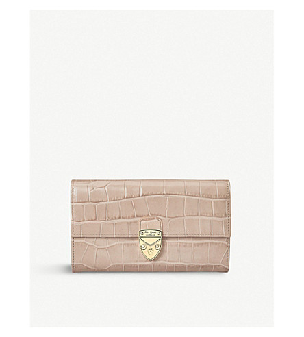 1f252fe853ca ASPINAL OF LONDON MAYFAIR CROCODILE-EFFECT LEATHER WALLET