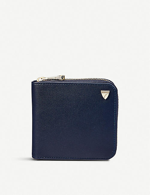 ASPINAL OF LONDON - Mount Street smooth leather wallet