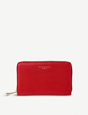 ASPINAL OF LONDON Continental midi saffiano-leather wallet
