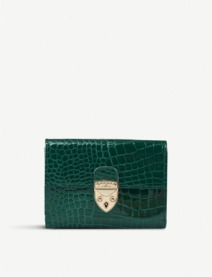 ASPINAL OF LONDON Mayfair small crocodile-embossed leather purse