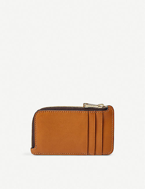 ASPINAL OF LONDON The Small Zipped Coin Purse in smooth leather