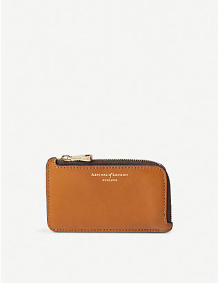ASPINAL OF LONDON: The Small Zipped Coin Purse in smooth leather