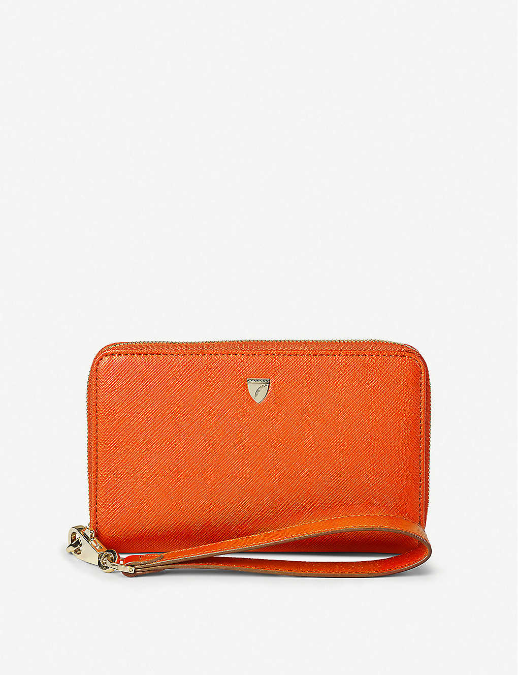 ASPINAL OF LONDON: Continental midi saffiano-leather wallet