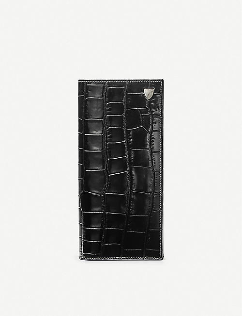 ASPINAL OF LONDON Coat crocodile-embossed leather wallet