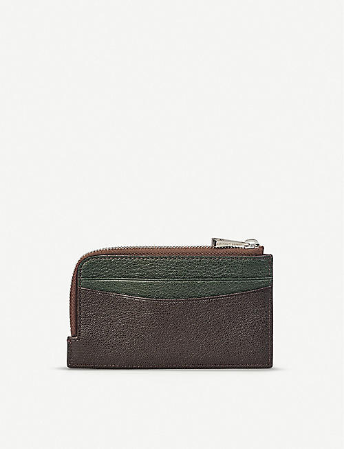 ASPINAL OF LONDON Zipped goat leather card wallet