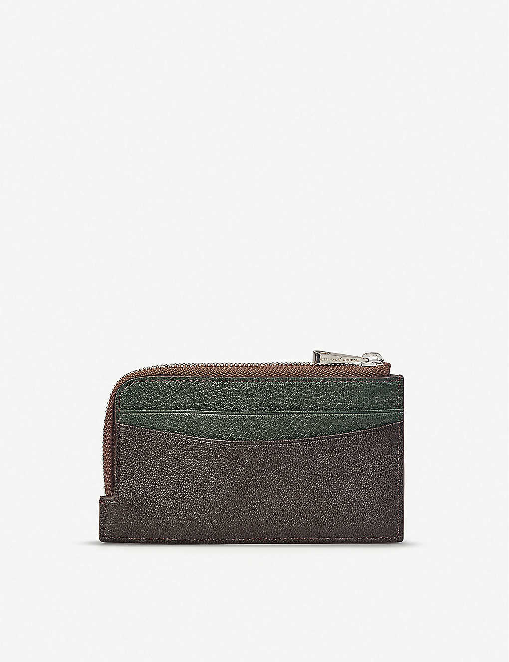 ASPINAL OF LONDON: Zipped goat leather card wallet