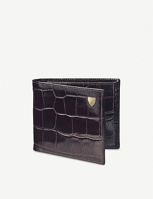 ASPINAL OF LONDON Billfold crocodile-embossed leather wallet
