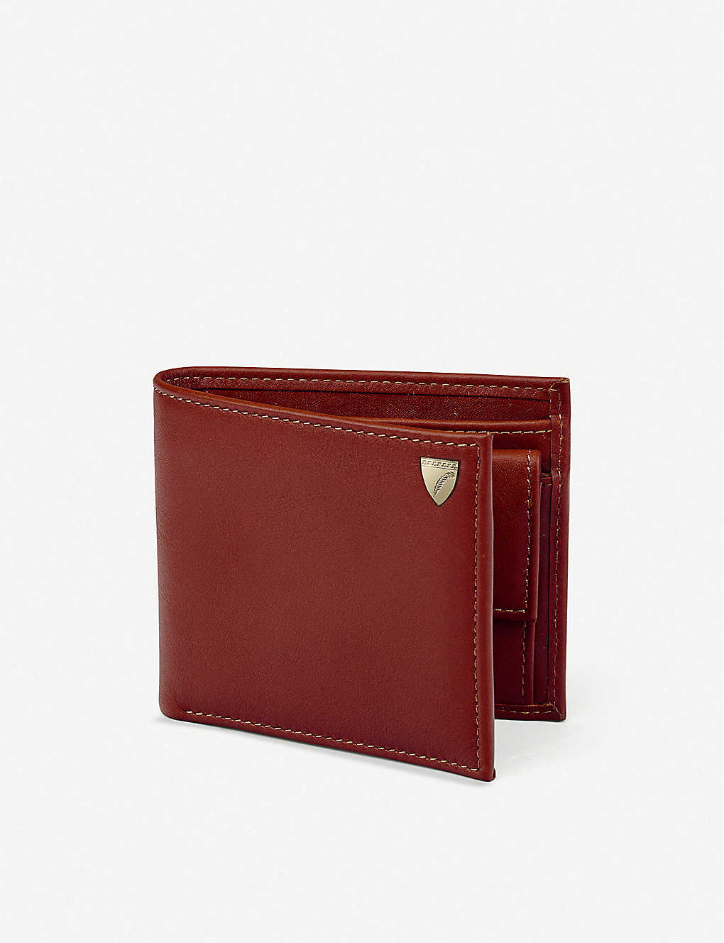 ASPINAL OF LONDON: Billfold eight-card leather wallet