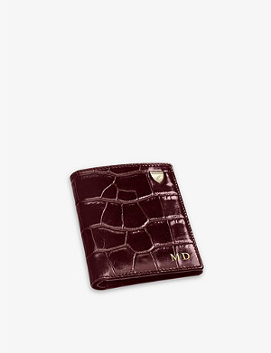 ASPINAL OF LONDON Logo-detail leather credit card wallet with notes pocket