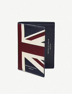 ASPINAL OF LONDON Union Jack leather credit card wallet with notes pocket