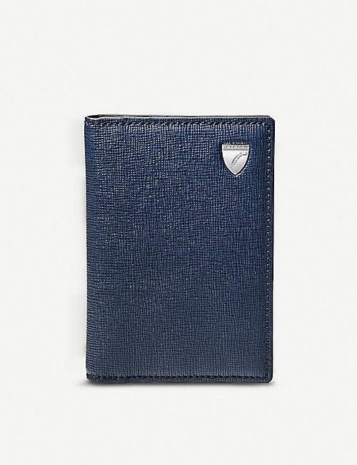 ASPINAL OF LONDON: Double Fold leather credit card holder
