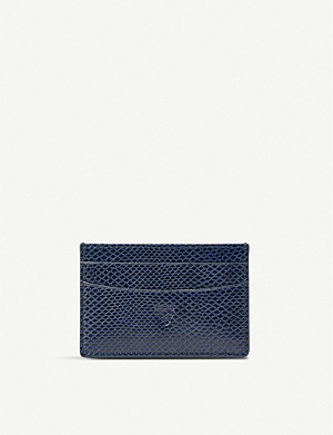 ASPINAL OF LONDON New Slim crocodile-effect leather cardholder