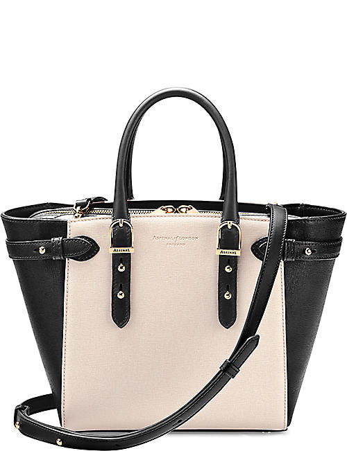 ASPINAL OF LONDON Mini Marylebone saffiano leather tote