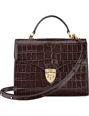 ASPINAL OF LONDON Mayfair croc-embossed leather cross-body bag