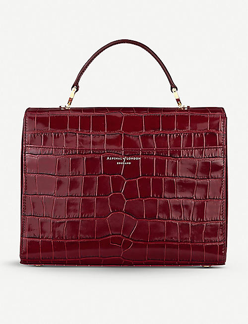 ASPINAL OF LONDON Mayfair mock-croc leather bag
