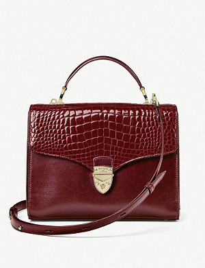 ASPINAL OF LONDON Mayfair crocodile-embossed leather cross-body bag