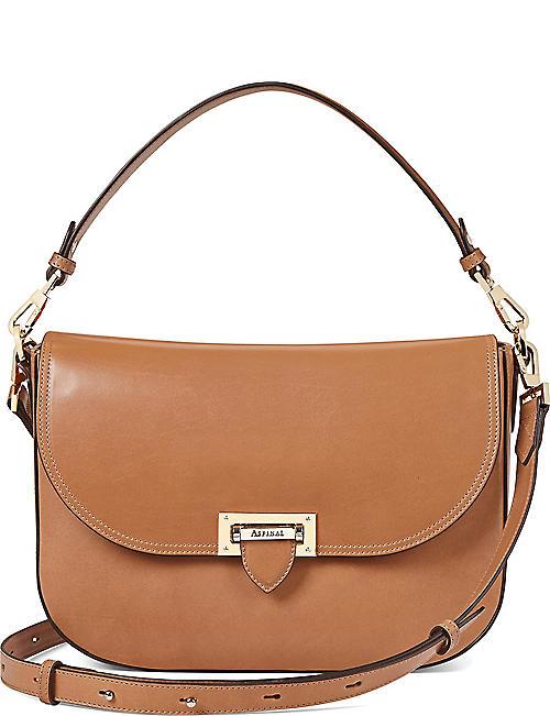 ASPINAL OF LONDON Slouchy leather saddle bag