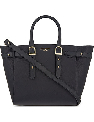 ASPINAL OF LONDON Marylebone medium pebbled leather tote