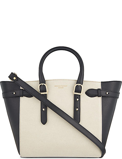 ASPINAL OF LONDON Marylebone monochrome mix leather medium tote