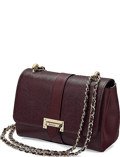 ASPINAL OF LONDON Lottie Saffiano-leather shoulder bag