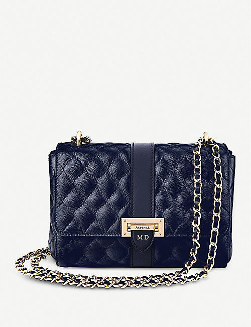 ASPINAL OF LONDON Lottie quilted leather shoulder bag