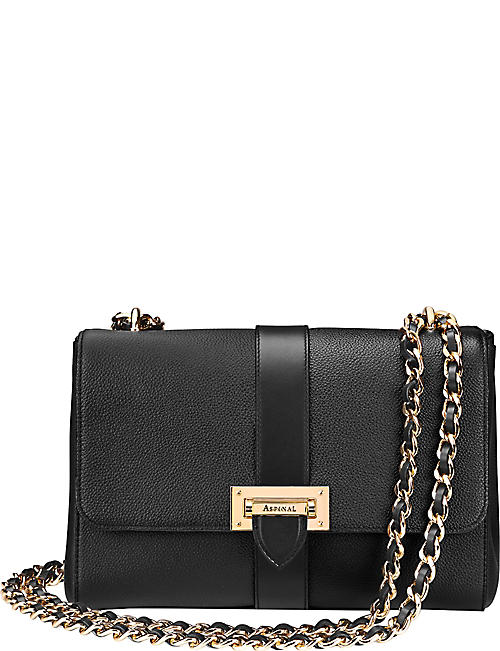 61ef21df0a0 ASPINAL OF LONDON Lottie chain-strap leather bag
