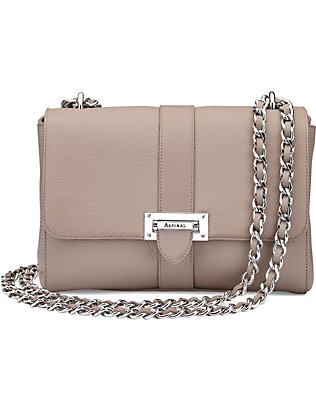 ASPINAL OF LONDON: Lottie large pebble leather bag