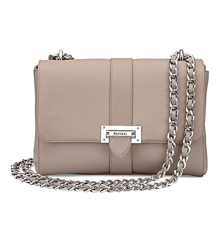 dd807219ef ASPINAL OF LONDON Lottie large pebble leather bag (Taupe