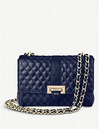 ASPINAL OF LONDON: Lottie large leather shoulder bag