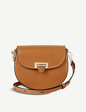 ASPINAL OF LONDON Portobello leather saddle bag
